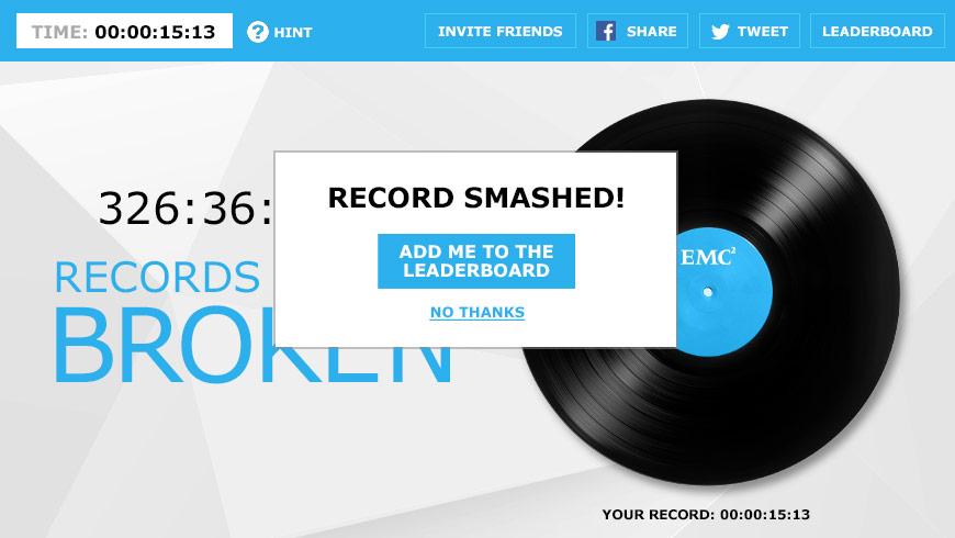 EMC Record Breaker Facebook App